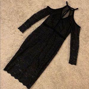 Express cold shoulder lace dress